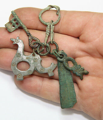 Ancient Viking Bronze AMULET  GREAT SAVE Viking AMULET zoomorphic pendants key