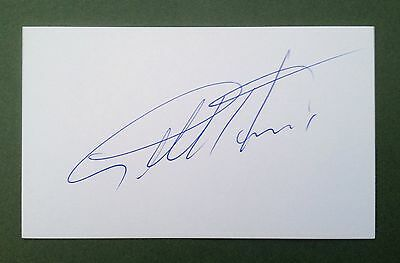 Geoff Hurst Autograph Signed 5X3 England 1966 World Cup Card West Ham 3