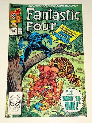 Marvel Fantastic Four Issue # 311 Feb 88 'i Want To Die!' Gd Con Black Panther