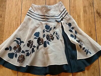 MONSOON SKIRT. GIRLS AGE 8-10 years BLUE WHITE