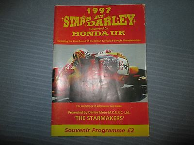 Stars Of Darley Road Races  Sun 12 Oct 1997  Official Programme