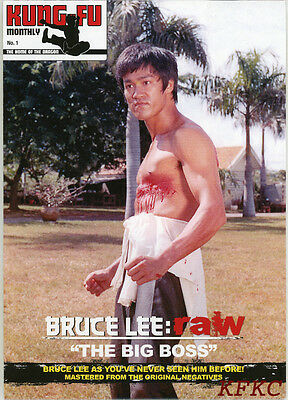 """BRUCE LEE RAW """"The Big Boss"""" Fold-Out Poster-Magazine KFM #1 Premier Issue"""