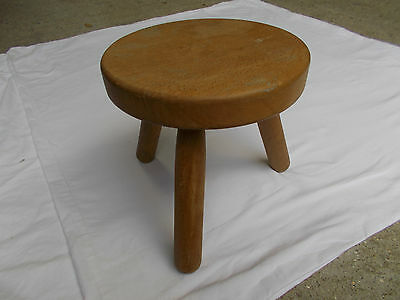 Tabouret Tripode Vintage Moderniste Scandinave 50 60 70 ( Style Perriand )
