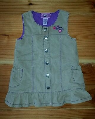 REI Girls Toddler Baby Jumper Dress Quilted Corduroy Size 12 Month