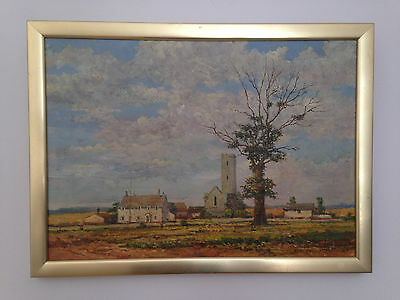 original oil painting on canvas landscape signed and dated by Tom Tailor 1979