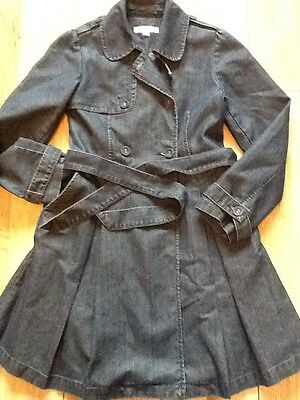 GORGEOUS DENIM COAT. GIRLS AGE 9-10 years. MARKS AND SPENCER. M&S