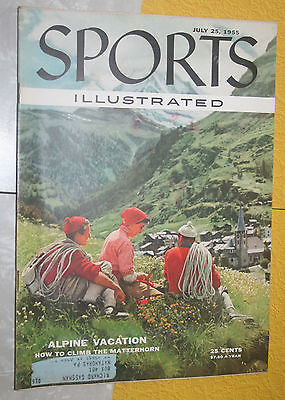 Sports Illustrated July 25,1955 Alpine Vacation  football Baseball hunting vg