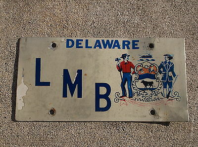 Delaware Front Booster license plate #  L M B