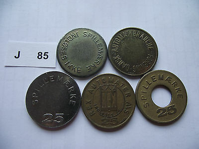 Lot Of 5 Game Tokens. J85