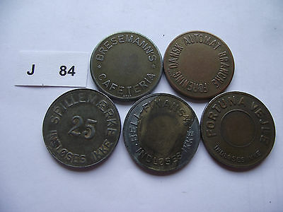 Lot Of 5 Game Tokens. J84
