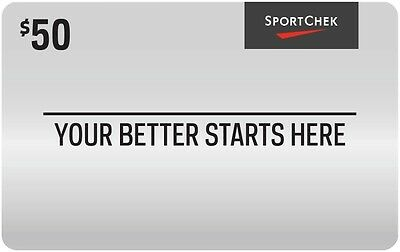 $50 Sport Chek Gift Card with Free Shipping!