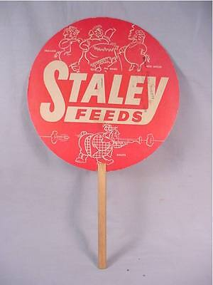 Vintage Advertising Fan - Staley Feeds MO