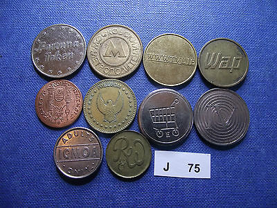 Lot Of 10 Different Tokens. J75