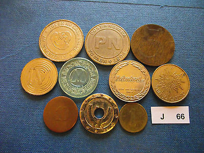 Lot Of 10 Different Tokens. J66