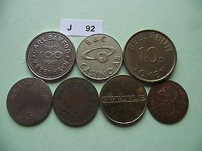 Lot Of 7 Tokens. J92