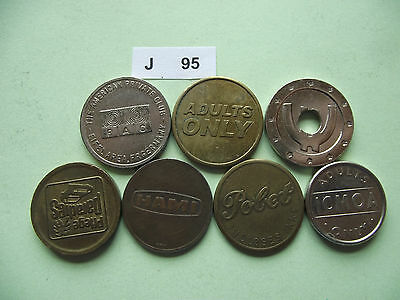 Lot Of 7 Tokens. J95