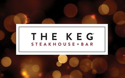 $50 The Keg Steakhouse & Bar Gift Card with Free Shipping!