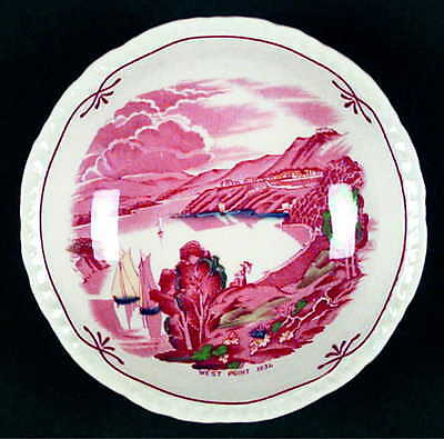 Booths EARLY AMERICAN SCENES Fruit Dessert (Sauce) Bowl 2428378