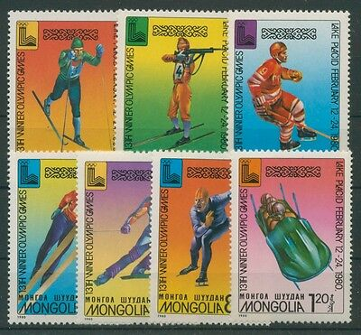 Mongolei 1980 Olympiade Lake Placid 1271/77 postfrisch (R21064)