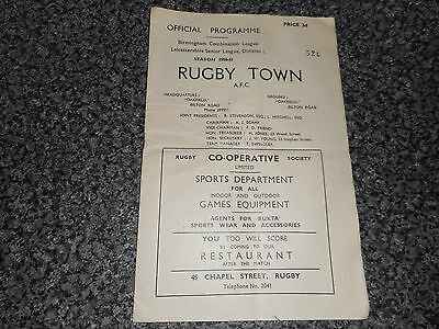 RUGBY TOWN  v  BROMSGROVE ROVERS  1950/1  BIRMINGHAM COMBINATION ~ DECEMBER 30th