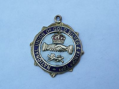 Antique Rare Enamel National Union Of Gold Silver & Kindred Medal Fob
