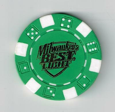 Milwaukee's Best Light Green Advertising Poker Chip Great For Collection!