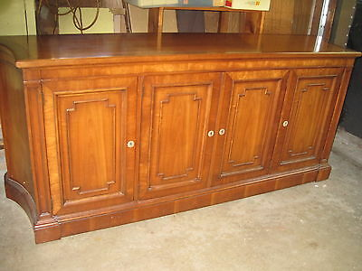 KINDEL OF GRAND RAPIDS SOLID CHERRY 1960s SIDEBOARD BUFFET CREDENZA