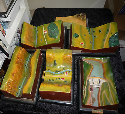 Rare Large Set Vintage Museum Scientific Model french valley geography