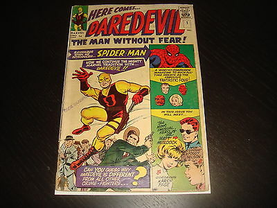 DAREDEVIL #1 Stan Lee Origin 1st App. Silver Age Marvel Comcs 1964 VG