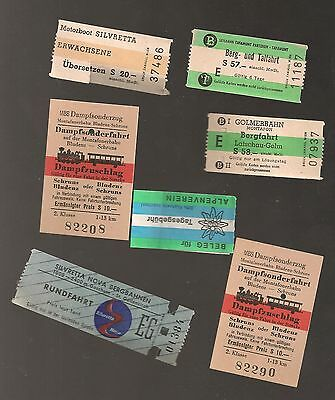 A Small Collection Of Tickets From Overseas