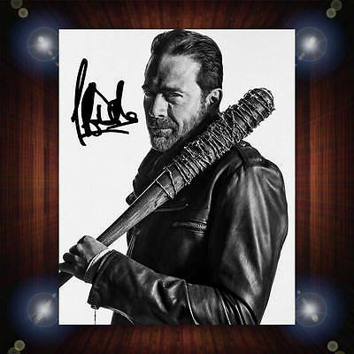 Jeffrey Dean Morgan Walking Dead S7 Signed Autographed Framed Photo/Canvas Print