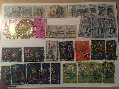 Two Stockcards of Sierra Leone (includes Self Adhesives) (37)