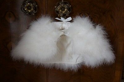 Girl *BHS* White/Ivory Feather Cape Shrug Party Christmas Wedding 6-10