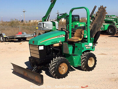2011 Ditch Witch RT45 4x4 Ride-On Trencher Backfill Blade Sideshift bidadoo