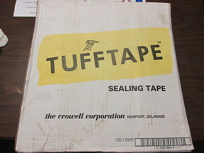 """TUFF TAPE 10 Rolls of 3"""" x 600' Gummed Paper Tape Water-Activated"""