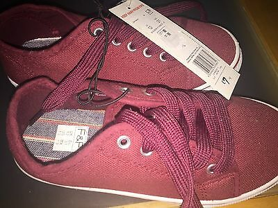 Childrens canvas shoes size 12 - brand new