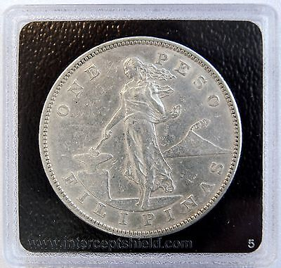 1903 S 1 Peso US-Philippines Silver Dollar Crown Coin  LV#601