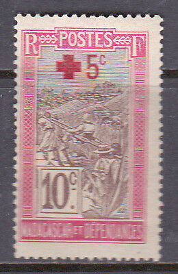 Madagascar 1915 Red Cross MM Cat £1.20