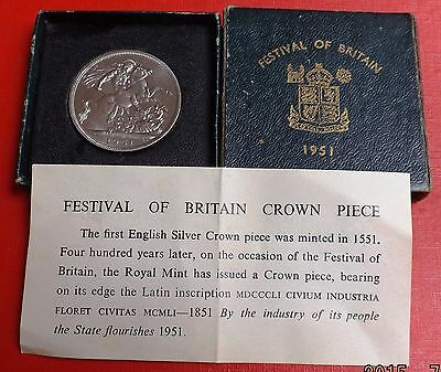 George V1 1951 Crown In Green Box And Coa Very Nice Condition