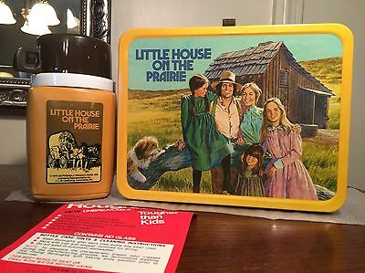 Vintage Near Mint 1978 Little House On The Prairie Lunchbox w/ Thermos & Tag!!