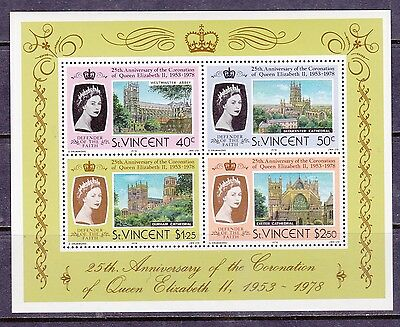St Vincent 1978 25th Anniv of The Queens Coronation MS560