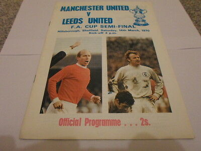 Manchester United v Leeds United 1970 FA Cup Semi-Final Programme