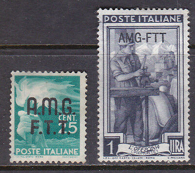 Trieste 2 Stamps MM Cat £10