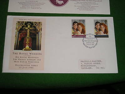 Great Britain The Royal Wedding 1986 FDC