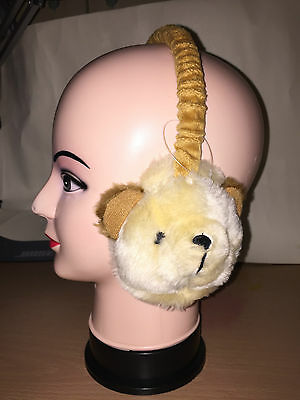 Girls or Boys Animal Winter Ear Muffs brown mouse xmas stocking fillers