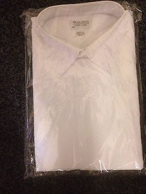 "Evening Shirt  ( NEW  ) By  Moss Bros 19"" Collar  ( Still In Packet ) Button Cuf"