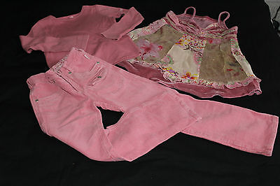 Lovely Pampolina Pink Outfit ~ 2 Tops and Trousers ~ Ages 6-7 Years / 116-122 cm