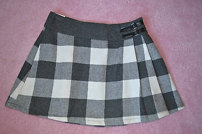 Girls Grey Check Pleated Skirt Age 13 Years