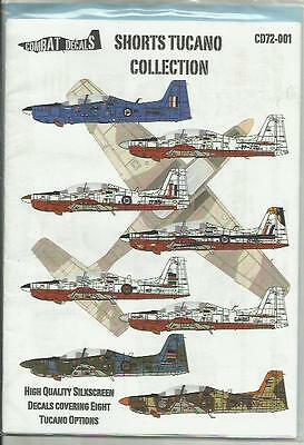 Combat Decals 72-001 Shorts Tucano Collection in 1:72 Scale