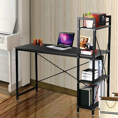 Computer Desk Study Table Workstation & 4 Tier Storage Shelving for Home Office